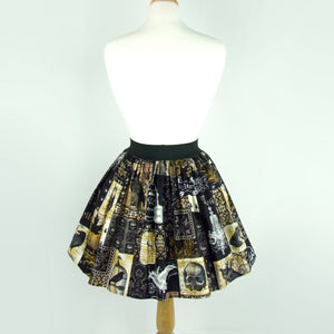 Edgar allen Poe Inspired Pleated Skirt #S-AP145