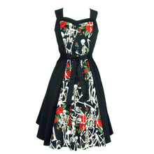Load image into Gallery viewer, Skulls and Roses Dress Full Circle Dress #D-SK987B