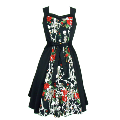 Skulls and Roses Dress Full Circle Dress #D-SK987B