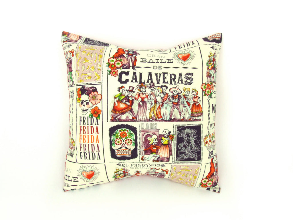 Day of the Dead Baile de Calaveras Pillow Cover  18 x 18 #P243