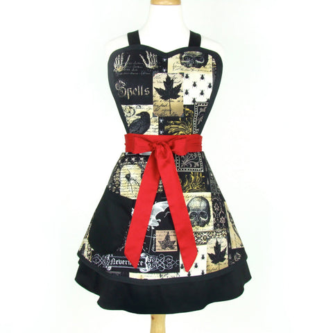 Nevermore Edgar Allen Poe Inspired  2 Skirt Apron #A-2TE55