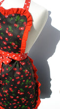 Load image into Gallery viewer, Red Retro Cherries and Polkadots Apron #A918