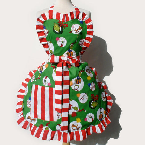 Dr. Seuss The Grinch Christmas Apron #A934