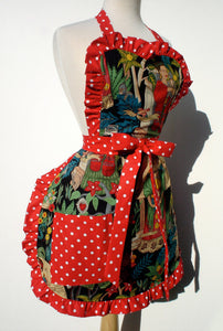 Apron on mannequin, Pictured from the side