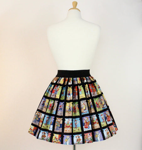 Black Day of the Dead Loteria Skirt #PS-996