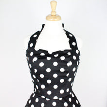 Load image into Gallery viewer, Classic Black and White Polkadots  Pinup Dress #D-FS979