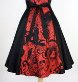 Red Steampunk Inspired Dress #D-SK697R