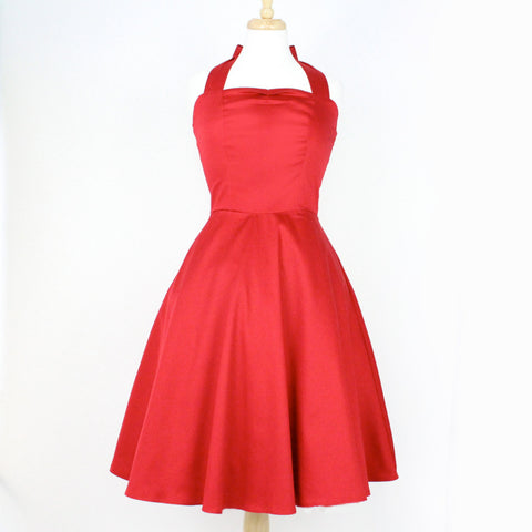 Red Pinup Full Circle  Dress #D-FS869