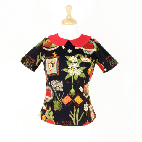 Frida Vintage Inspired Top #T-F986