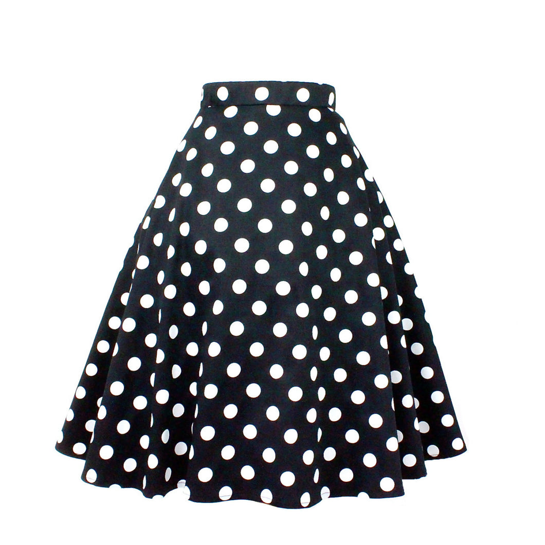 Pinup Polkadots  Full Circle Skirt #FS-P749