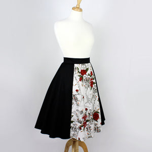 Skulls and Roses Full Circle skirt #FS-SR412