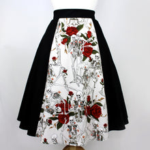 Load image into Gallery viewer, Skulls and Roses Full Circle skirt #FS-SR412