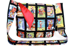 Cartas Marcadas Day of the Dead Messenger Bag #MB-996