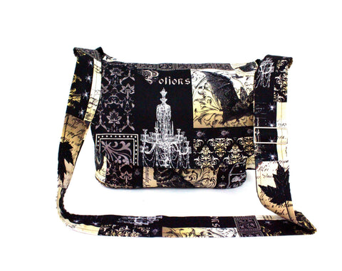 Edgar Allen Poe Inspired  Messenger Bag #MB-4324