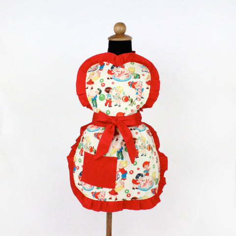 Vintage Candy Girls Apron / One size Fits Ages 2-10 #GA-545