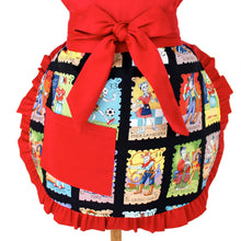 Load image into Gallery viewer, Little Girls Colorful Cartas Marcadas Apron  / One size Fits Ages 2-10 A-G165
