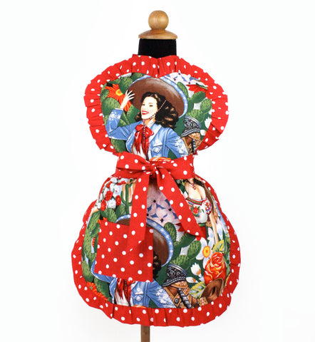 Little Girls Colorful Mexican Senoritas Apron #A-G145