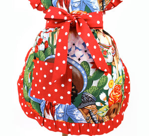 Little Girls Colorful Senoritas Apron #A-G145