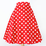 Pinup Red Polkadots Full Circle Skirt #FS-R890