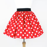 Dapper Day Minnie Mouse  Red and White Polkadots Pleated Skirt #PSRP