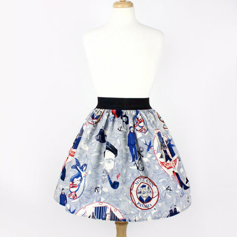 Sailor Jerry Rockabilly Nautical Pleated Skirt  #PS-J111