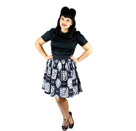 Classic Monster Portraits Pleated Skirt # PS-M6523