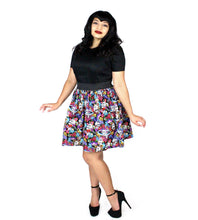 Load image into Gallery viewer, Catrinas and Skulls Pleated Skirt # PS-C678