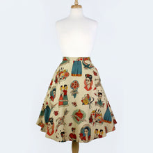 Load image into Gallery viewer, Vintage Inspired Frida Circle Skirt #FS-FB700