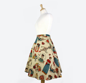 Vintage Inspired Frida Circle Skirt #FS-FB700