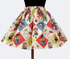 "Girl's ""Western Fun"" Aline Skirt #GS-736"