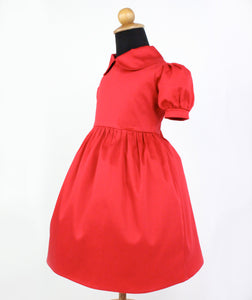 Girl's Red Holiday Dress #GD-CR91