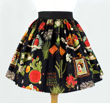 Load image into Gallery viewer, Frida and Cactus Pleated Skirt #PS-C997