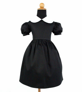 "Girl's ""Wednesday Adams"" Inspired Dress #GD-CB90"