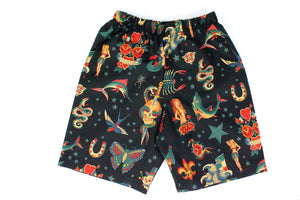 Boy's Rockabilly Tattoo Shorts# BS-T22