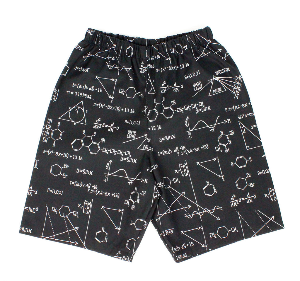 Boy's Black Geometry Shorts# BS-G24