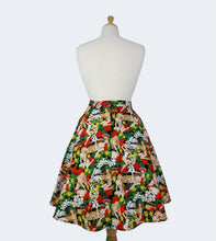 Load image into Gallery viewer, Vintage Hawaiian Tiki  Aline Pinup Skirt # FS-HG501