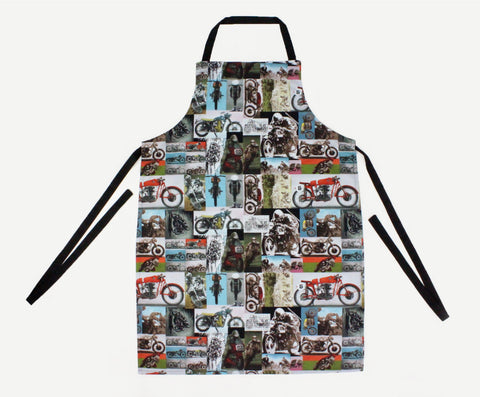 Cafe Rider Motorcycle Men's Apron #MA-601