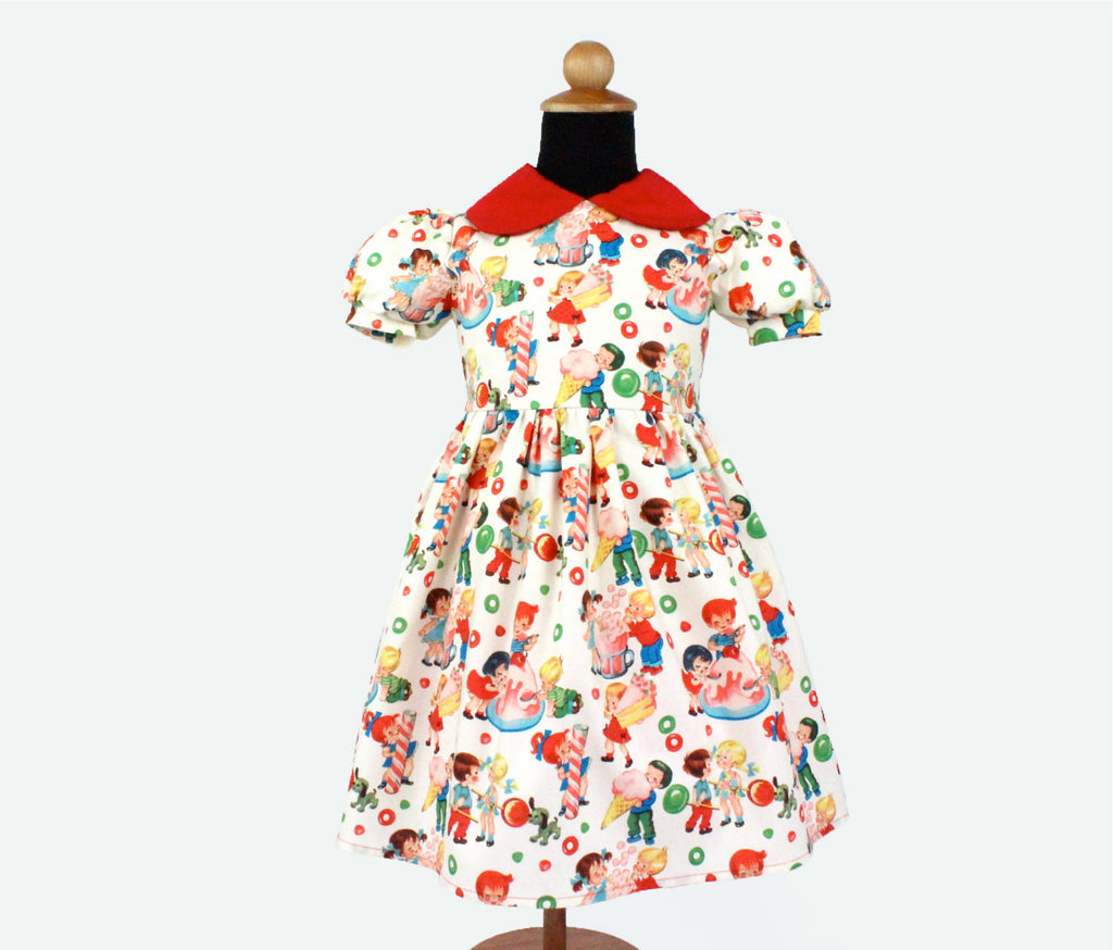 Retro Candy land Childrens Dress #GD-CR93