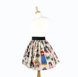 Colorful Elastic Frida Portrait Skirt # S-AP646