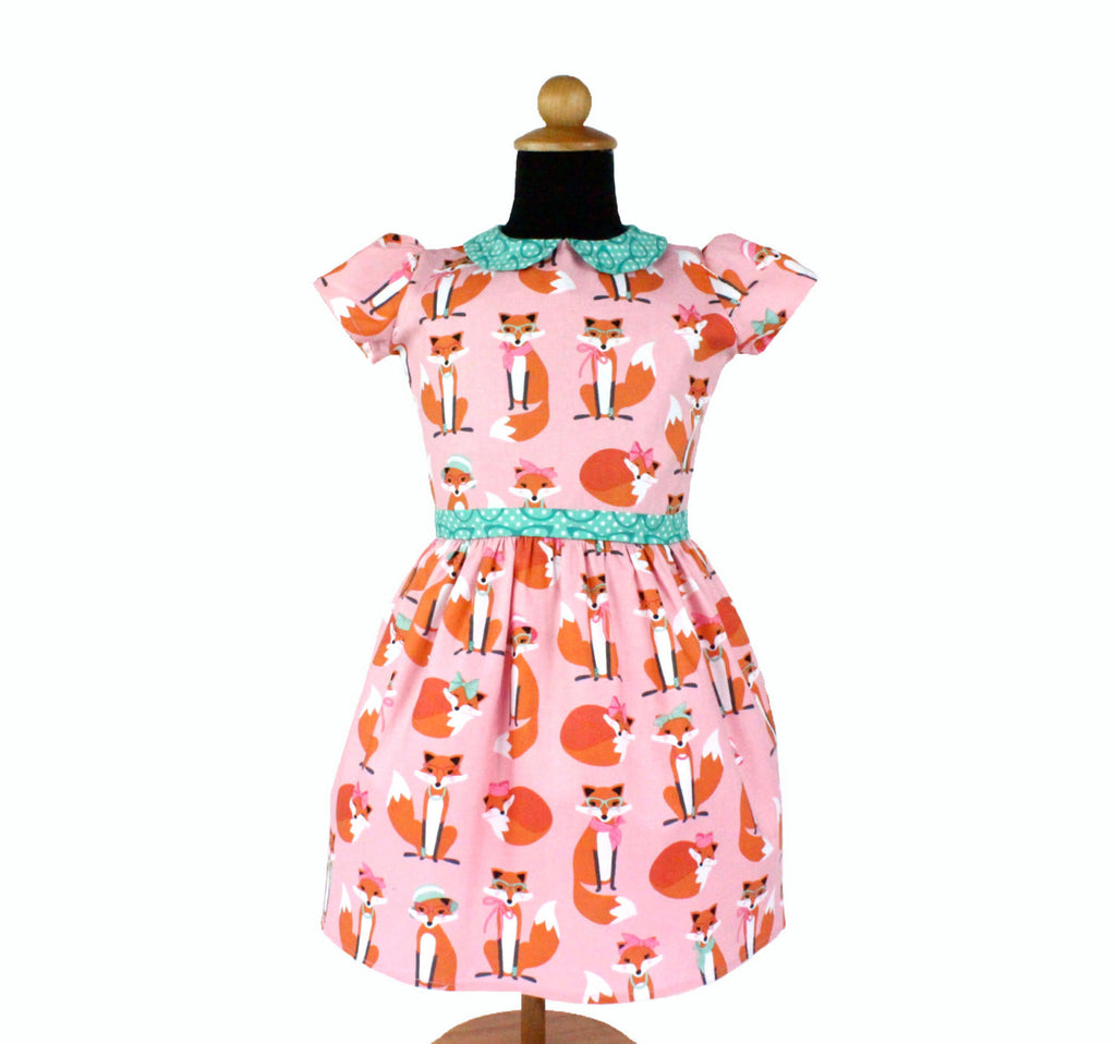 Girl's Retro Pink Foxy Dress #GD-CR94