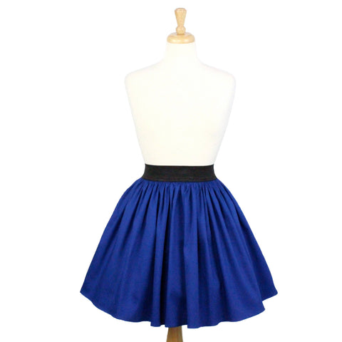 Electric Cobalt Blue A-line Pleated Skirt #S-AP644