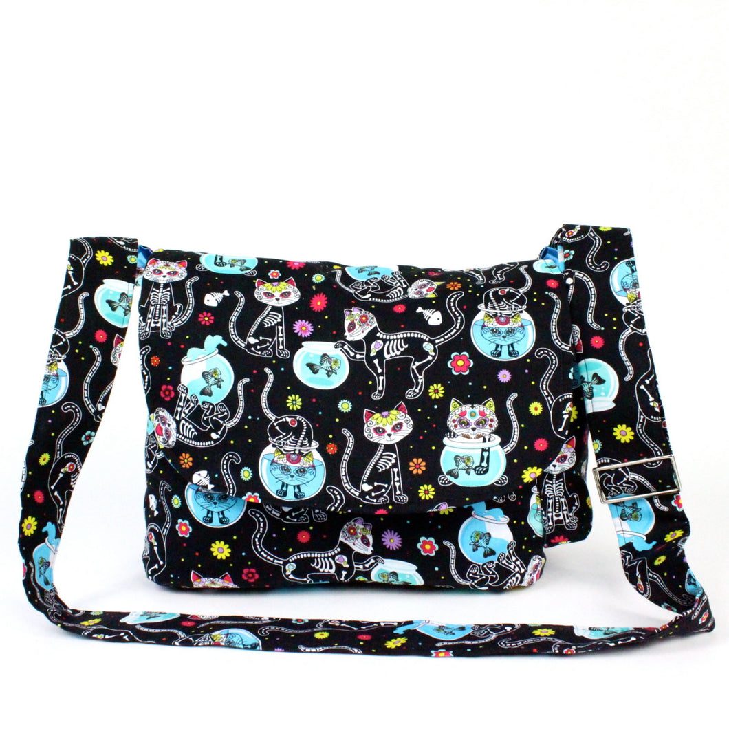 Cat Day of the Dead / Dia de los Muertos Inspired Bag #MB600
