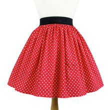 Load image into Gallery viewer, Dapper Day Minnie Mouse Red and White Polkadots Pleated Retro Skirt #PS-R799