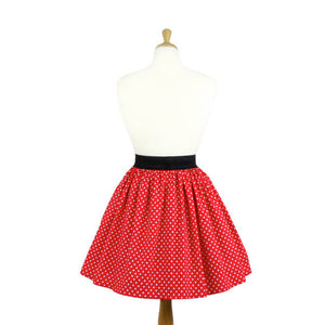 Dapper Day Minnie Mouse Red and White Polkadots Pleated Retro Skirt #PS-R799