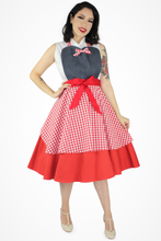 Load image into Gallery viewer, Denim Gingham Apron