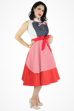 Denim Gingham Apron
