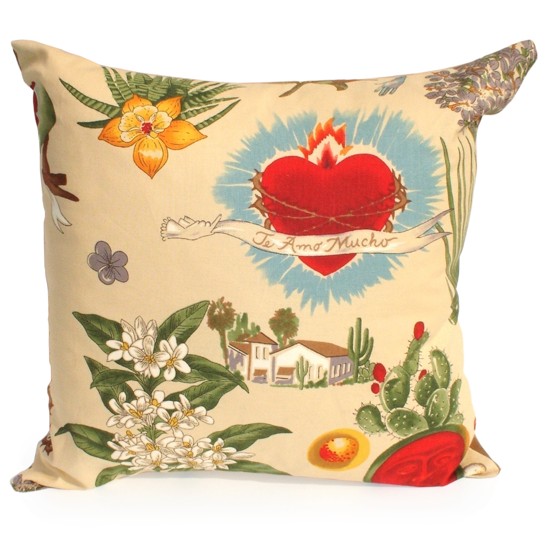 Frida  Art Mexican Novelty throw Pillow 12x12in. #P206