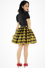 Load image into Gallery viewer, Yellow Plaid Elastic Skirt #YPES