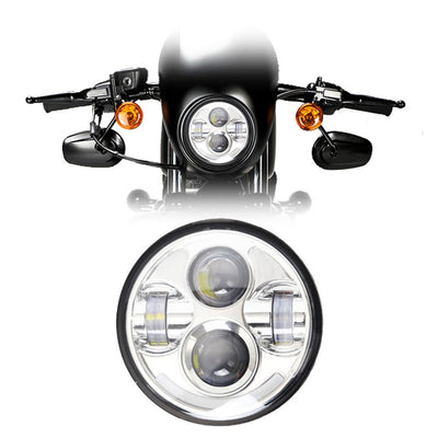 "5-3/4"" Harley Headlights - 5-3/4"" Bottom Halo Daymaker Style LED Harley Headlight"