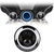 "7"" Blue Halo Daymaker Style LED Harley Headlights"